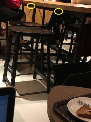 スタバ中目黒山手通り店の電源席アップ