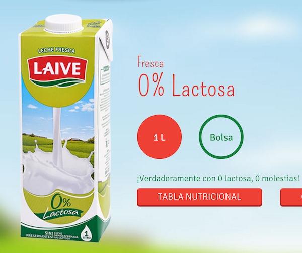 Laiveの乳糖フリーの牛乳