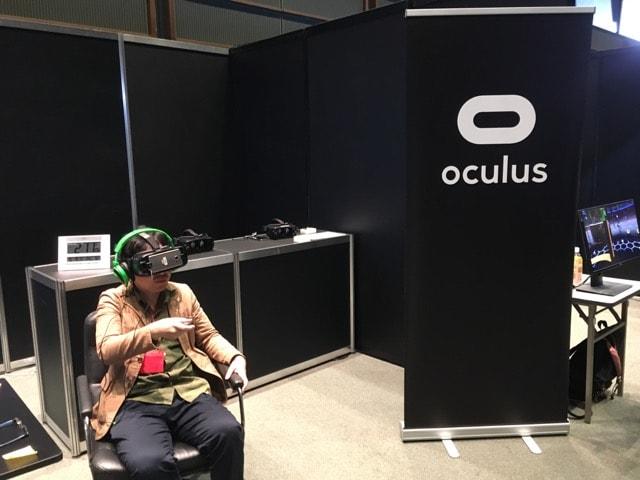 Oculusの体験シーン
